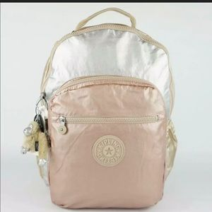 Kipling Seoul Small  Backpack Toasty/Gold Metallic